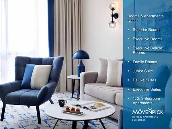 Movenpick Hotel & Apartments - Room - Luxuria Tours & Events