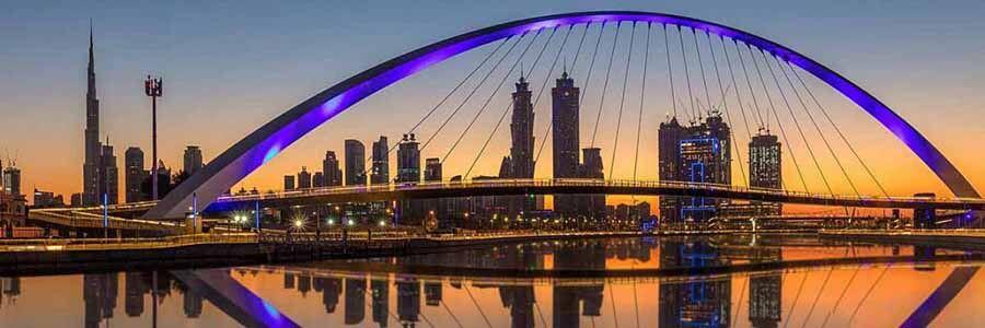 Dubai Canal Sunset - Luxuria Tours Events