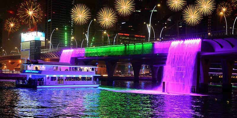 Dubai Canal Waterfall - Luxuria Tours & Events